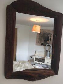 African Wooden Mirror