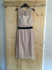 Dusky Pink embroidered Lipsy VIP dress size 6