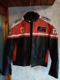New! leather motorbike jacket