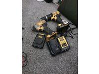Dewalt combo kit 14.4 v impact combi haer drill