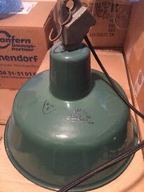 Original enamel industrial lamps