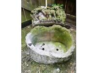 Stone/resin tree stump planters
