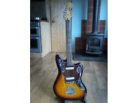Squire Vintage Modified Jaguar Sunburst…Upgraded Bridge/Trem/Nut/Electronics