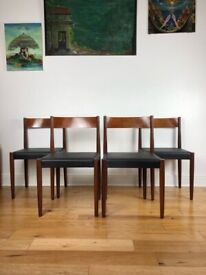 Poul Volther For Frem Rojle Mid Century Modern Danish Teak Dining Chairs FREE LOCAL DELIVERY