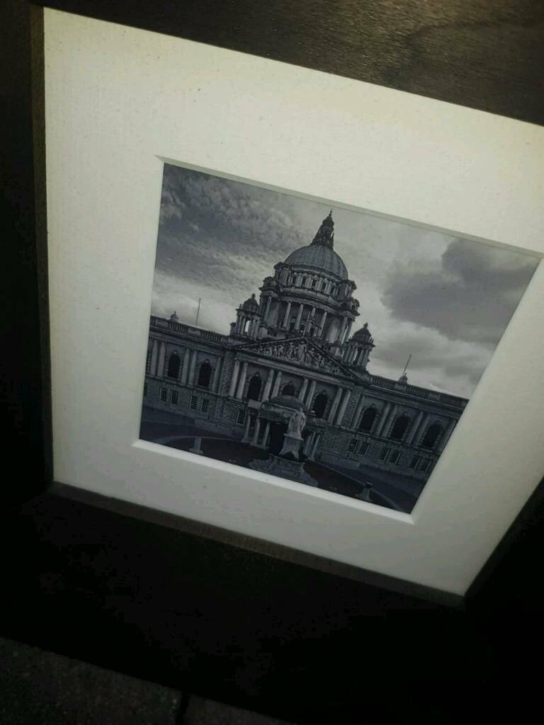 13 old belfast prints in a heavy frame £10 a peice