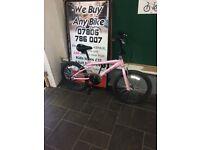 """Rhino Eden BMX pink & black bike 12"""" Inch"""