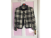 Women's black and white jacket, in very good condition, UK size 8 - 10