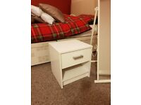 2 x bed side tables