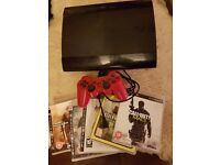 ps3 super silm 500gb games and pad