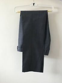 FCUK Men's Grey Slim Fit Formal Trousers, Brand New With Tags, Size 30 Short, RRP £60