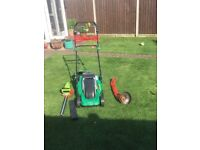 Mower, strimmer and hedge cutter