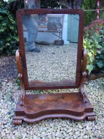 Antique,Victorian,Dressing Table Mirror.