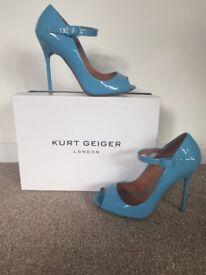 Kurt Geiger powder blue heels