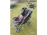 Double twin buggy pushchair pram