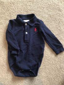 Ralph Lauren boys navy polo / vest