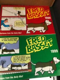 Several Various Collectible Vintage Fred Basset Comic Books Collectors Antique Retro Memorabilia
