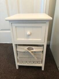 Wooden drawer and basket storage unit