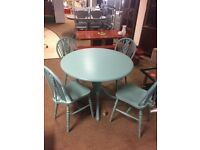 SOLID PINE PAINTED DINING TABLE AND CHAIRS ## FREE DELIVERY ##