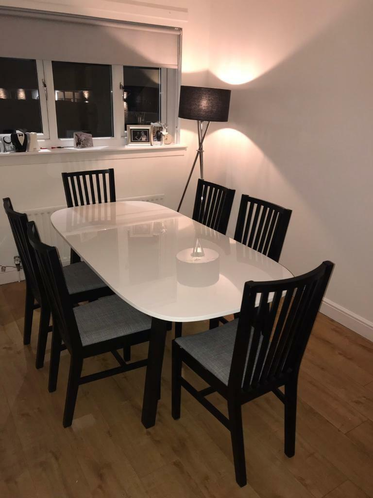 Ikea Dining Table And 6 Chairs
