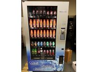 Mint condition Westomatic Otis cold can/bottle vending machine with robotic arm and coin mech