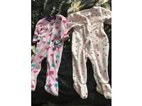 Baby girl 9/12 warm sleepsuits FREE