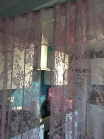 pink double shower curtain