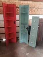 Rustic door shelves
