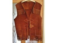 Men's fringed waistcoat
