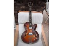 Hofner Guitar:Thinline President E2:Vintage 1965:Archtop:Electro-acoustic.Good condition.