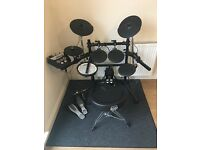 Roland TD-6KV Electronic Drum Kit, TDM Twin Double Bass Pedals, Mapex Seat & Roland TDM10 Drum Mat