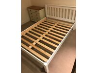 White pine double bed frame (+mattress optional)