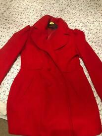 Stylish red winter coat size 16 by Next