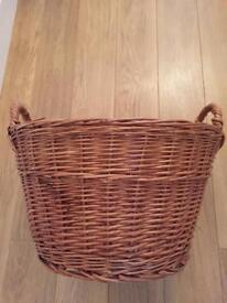 Wicker weaved extra large ratton basket new .