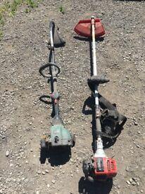 Pair of petrol strimmers for spairs or repairs