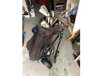 Selection of golf clubs