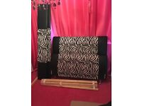 double bed leather and zebra print
