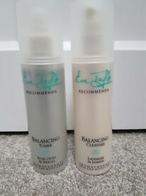 Brand new Eve Taylor BALANCING cleanser and toner facial products
