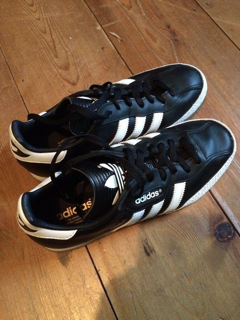 4361ae22e8bf95 ... italy adidas samba super leather black white mens trainers uk size 7  9c59b bde42
