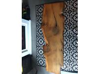 Wood effect coffee side table