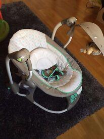 ingenuity convert me swing-2-seat baby rocker