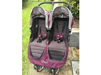 Baby Jogger City Mini Double buggy in Purple