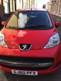 Red Peugeot 107 LOW MILEAGE