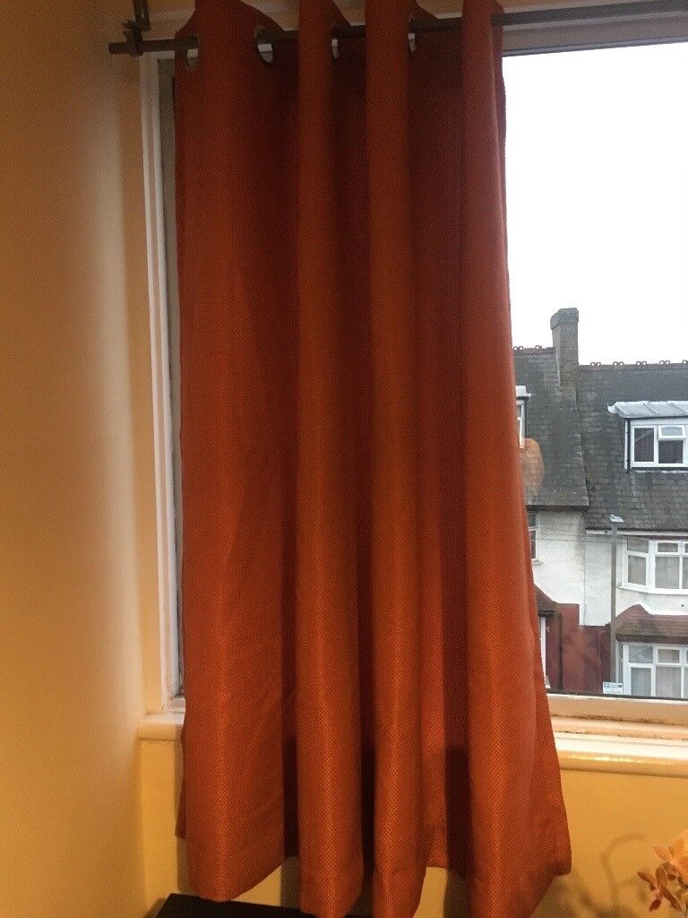 Burnt orange curtains fully lined