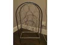 **Free** Silver wine rack. Collection only please