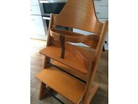 Tripp Trapp chair by STOKKE for sale. Well-used but in good working order.