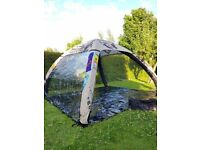Bacardi Gazebo's 4m x 4m inflatable structure. iDome, never used, with groundsheet and 2 sides