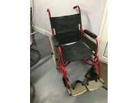 Heavy duty, folding wheelchair, with puncture proof tyres
