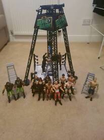 WWE Money in the Bank Wrestling Rung with 13 Wrestlers