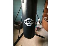 TKO boxing bag and stand with speed ball. High quality bag and stand with gloves included.