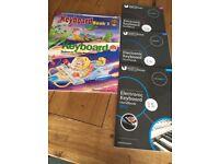 Beginners and grades 3/4/5 keyboard exam books